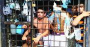 Pandilleros presos en un calabozo policial en el departamento de La Libertad en El Salvador.