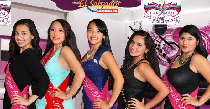 Presentan a las candidatas a reina del Carnaval de San Miguel en DC