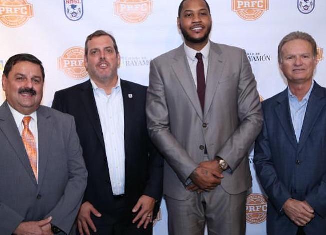 Carmelo Anthony comienza a darle forma al Puerto Rico Fútbol Club