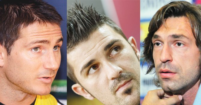 Villa, Pirlo y Lampard en Washington