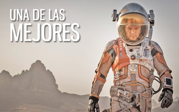 """The Martian"", a un paso de batir el récord de octubre para un estreno"