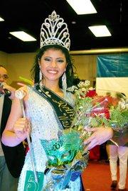 La joven Karla Cristina Ventura Ramírez, reina del Carnaval de San Miguel en el área metropolitana de Washington.