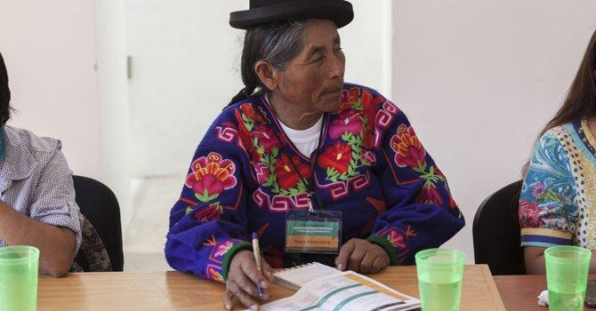"""Mujeres indígenas piden """"revolución educativa"""""""