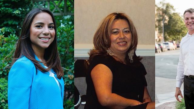 Judith García, Yessenia Alfaro y Roy Avellaneda. Candidatos latinos participando en las elecciones de Concejales en Chelsea