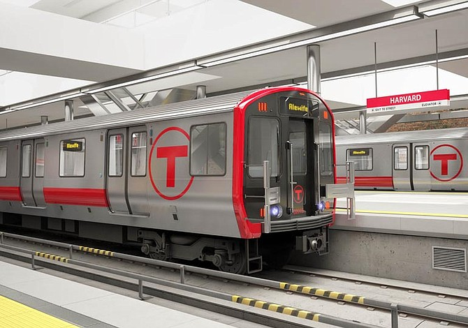 MBTA comprará 134 nuevos vagones para la Línea Roja