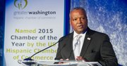 El ejecutivo del condado de Prince George's, Maryland, Rushern Baker durante el evento de la GWHCC el 19 de octubre en DC..
