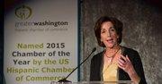 La Asistenta a la Secretaría de Estado de EEUU, Roberta Jacobson durate su discurso ante la GWHCC, en DC el 19 de octubre.