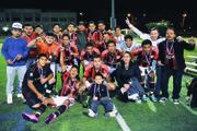 Los jugadores del Milan USA festejan el subcampeonato de la Liga de Gunston, el viernes 16 de octubre.