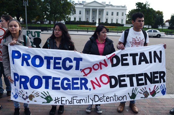 No a los centros de detención para familias inmigrantes