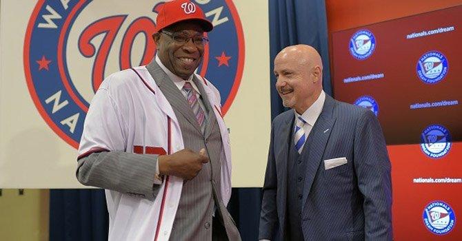 Nationals presentan al manager Dusty Baker