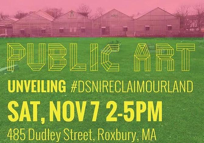 SÁBADO 7 DE NOVIEMBRE: Vecinos de Calle Dudley en Roxbury Revelan Instalación de Arte Público