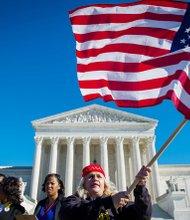 Concentración pro inmigrante ante la Corte Suprema el 20 de noviembre de 2015.