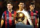 El dominio entre Lionel Messi y Cristiano Ronaldo por el Balón de Oro se ve amenazado este año por Neymar, quien nunca ha conquistado este tipo de galardón. Foto: Archivo
