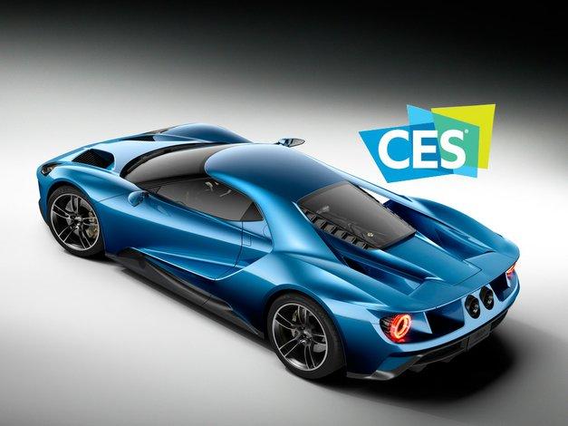 El Ford GT fue nombrado el vehículo oficial del show de CES 2016