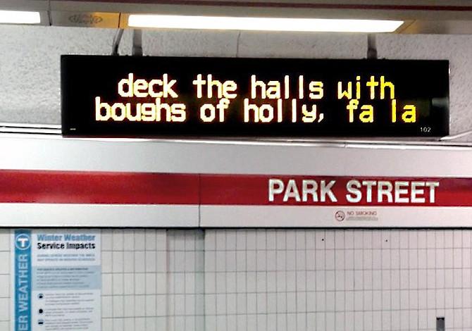 Horario de MBTA para Navidad y Año Nuevo