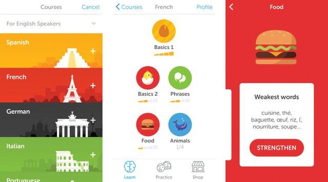 Puede aprender inglés, alemán, francés y portugués totalmente gratis y a su propio ritmo. Una de las apps imprescindibles en 2015 y que vuelve a repetir en 2016.