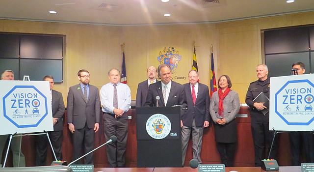 """PLAN.Autoridades del Condado de Montgomery en Maryland, el 19 de enero, lanzaron la iniciativa """"Visión Cero"""" contra las muertes por accidentes de tráfico."""