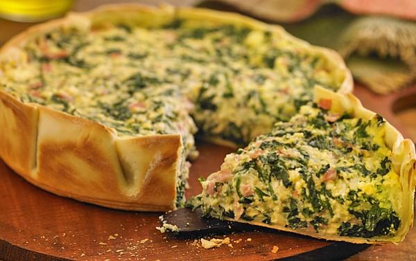 Tarta ligera de ricotta y verduras libre de harinas.