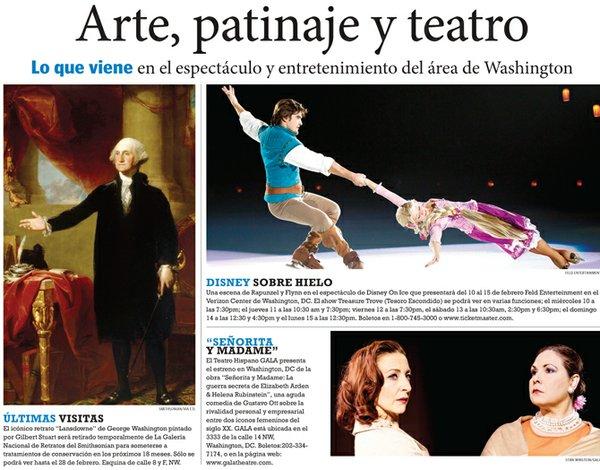 Arte, patinaje y teatro