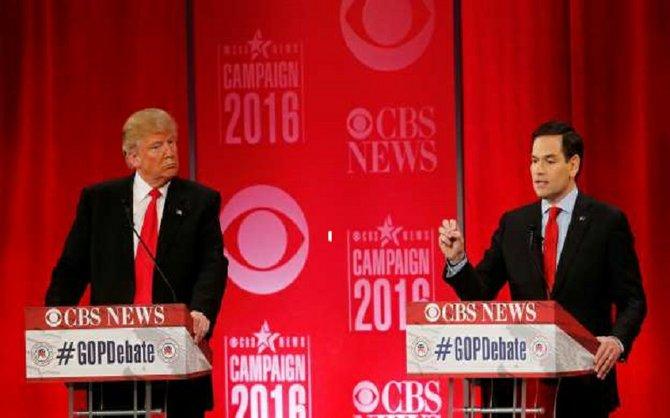 Trump y Rubio hablan sobre legado de Bush