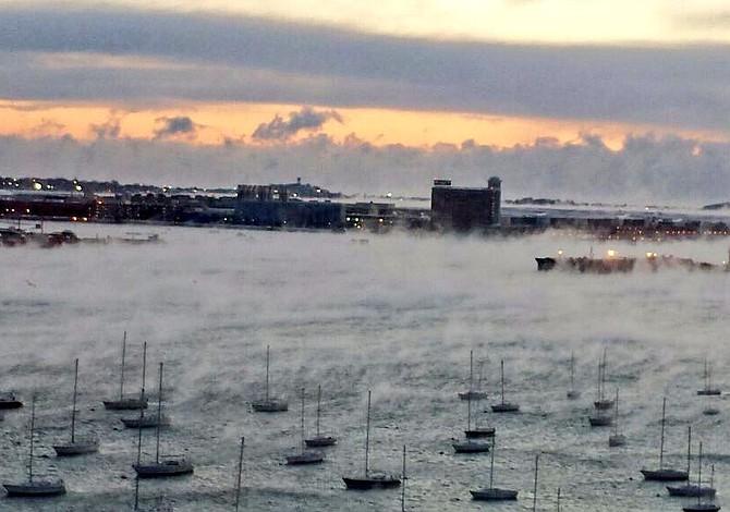 Boston tuvo la temperatura más fría desde 1957 el Día de San Valentín