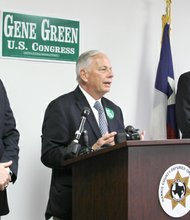 La organización de alguaciles del condado de Harris, respalda la candidatura de Gene Green para reelegirse como congresista por el distrito 29.