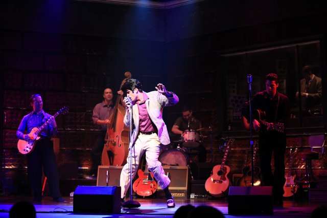 Una de las escenas del musical The Million Dollar Quartet.
