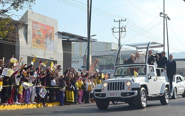 Michoacán vibra con la presencia del papa Francisco