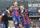 Suárez, Neymar y Messi han consolidado una amistad que parece rendir frutos en el avance de su equipo, el Barcelona. Foto: Archivo