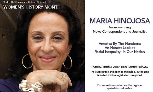 Bunker Hill Community College celebrará Mes de la Mujer con María Hinojosa