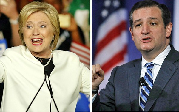 Hillary Clinton y Ted Cruz los ganadores en Texas