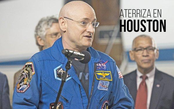 El astronauta Scott Kelly regresa a casa tras un año en el espacio