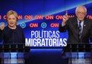 Sanders y Clinton aseguraron que si son presidentes no deportarán a menores ni a sus familiares que no hayan cometido crímenes./Foto:EFE
