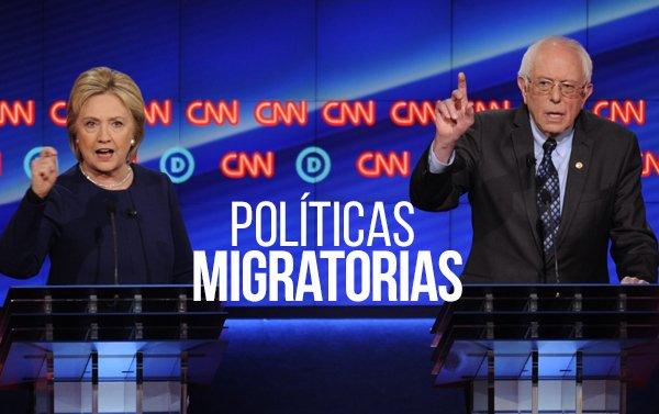 Sanders y Clinton se comprometen a no deportar niños y se desmarcan de Obama