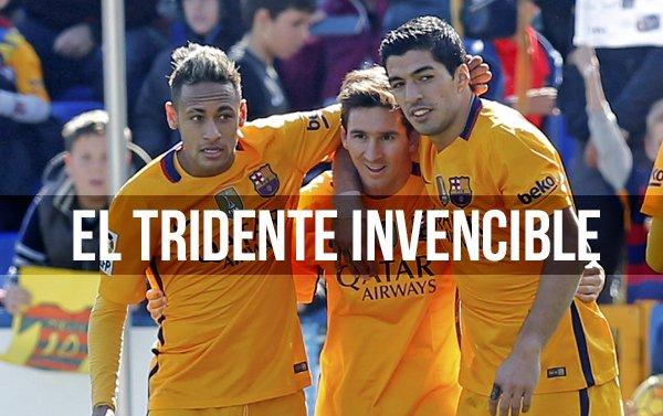 Messi, Suárez y Neymar, la fulgurante diagonal del Barcelona