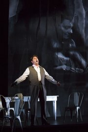 Alex Richardson as the title character in Boston Lyric Opera's Werther -- Photo T. Charles Erickson