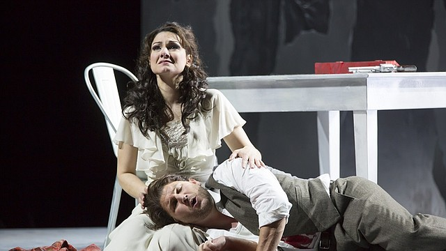 Sandra Piques Eddy and Alex Richardson in Boston Lyric Opera's Werther -- Photo T. Charles Erickson