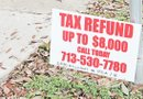 Tenga cuidado con las pancartas y anuncios que prometen conseguirle más de $8,000 dólares en reembolsos del IRS sin conocer de antemano su situación tributaria.