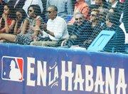 ESPECTADORES. Barack Obama, su esposa MIchelle  y sus hijas, Malia  y Sahsa, junto a Raúl Castro.