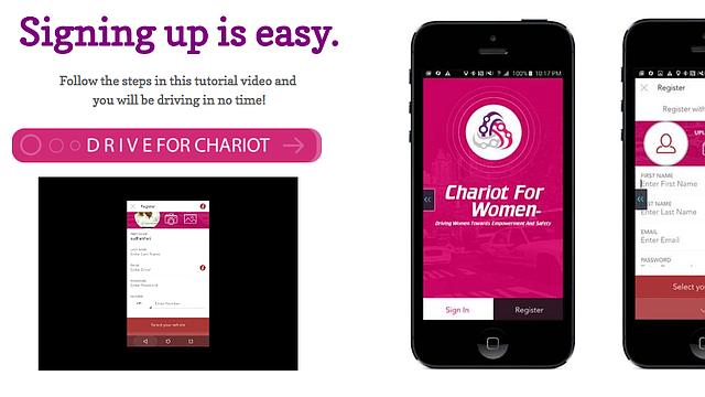 Una captura de pantalla de la aplicación Chariot For Women