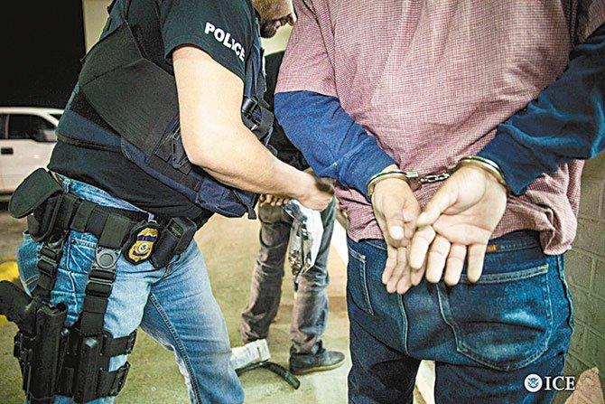 ICE capturó a cientos de delincuentes