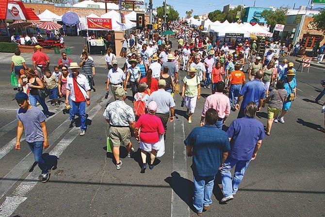 Feria en el Centro de la ciudad