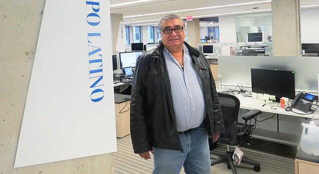 DIRIGENTE. El empresario salvadoreño Elías Polío durante una visita que realizó a la redacción de El Tiempo Latino el viernes 19 de marzo de 2016.