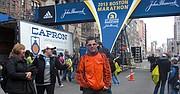 MARATONISTA. Eduardo Caro no corrió el Maratón de Boston de 2013, pero estuvo en la línea de llegada hasta 10 minutos antes de las bombas.