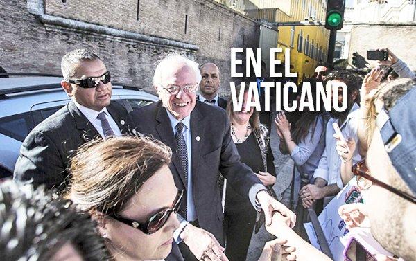 Sanders visita el Vaticano para asistir a un foro social