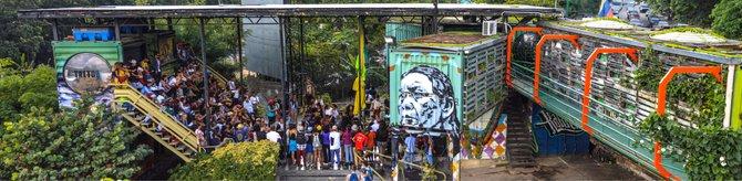 Parque Intersticial Tiuna El Fuerte, para promover y admirar expresiones culturales urbanas, construido en un parqueadero abandonado en Caracas. Foto: Irina Urriola