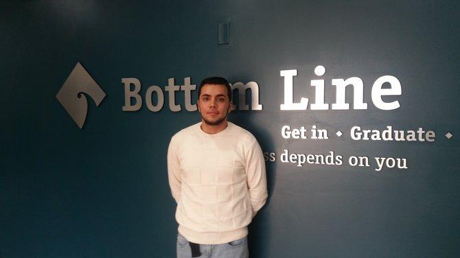 Edwin Ortiz, uno de los beneficiados del programa Bottom Line