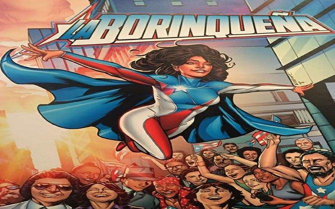 Presentación de la superheroína puertorriqueña La Borinqueña