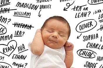 Estos fueron los nombres más populares de bebés en EE.UU. en 2015