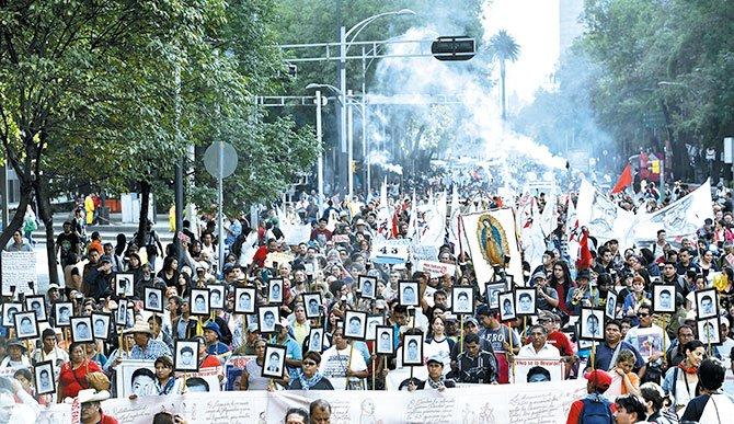 En México hay el mismo número de desaparecidos que en Siria